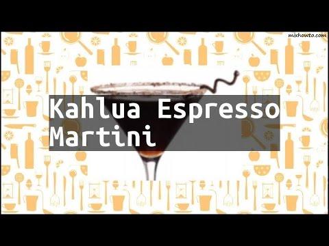Recipe Kahlua Espresso Martini