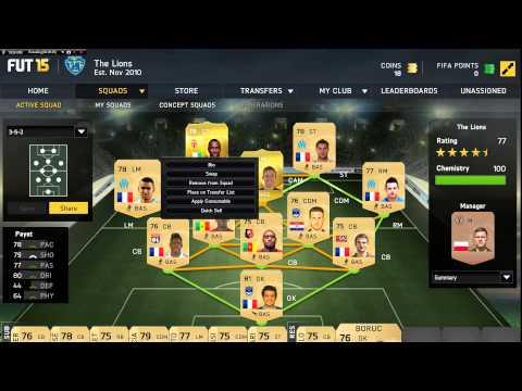 FIFA 15 Ultimate Team Full Gold 100 Chemistry Team