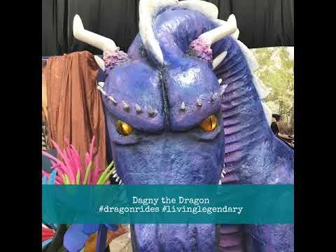 Dagny the Dragon #dragonrides #livinglegendary