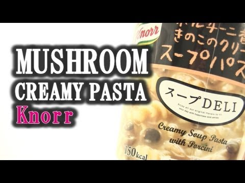 Mushroom And Cream!! Soup Pasta Of Knorr