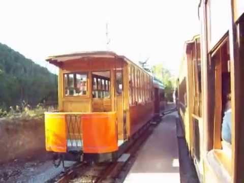 Port Soller to Soller tram Majorca Mallorca Spain