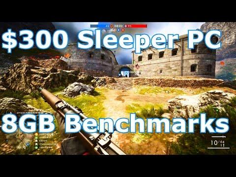 Intel/AMD $300 Gaming PC Build – 8GB Sleeper Benchmarks!