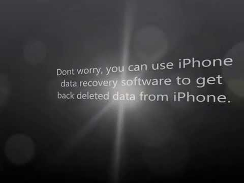 How to recover deleted photos videos contacts notes from iPhone 5/4S/4/3GS/iPad 2/mini/1/iPod