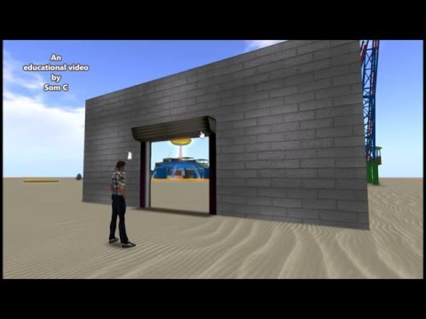BUILD A DRAGGABLE SHUTTER DOOR FOR YOUR SHOP OR GARAGE IN OPNSIM OR SECONDLIFE
