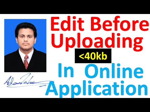 How to edit scanned photo and signature before submitting any online application.