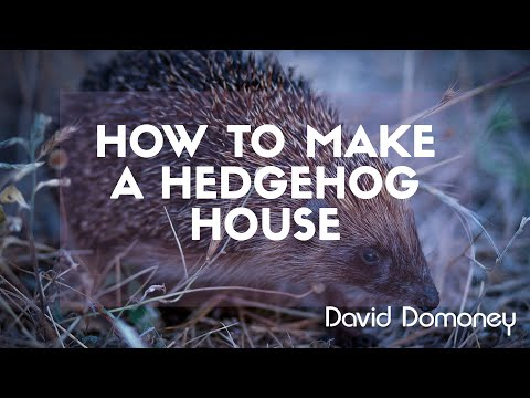 Looking after wildlife - How to make a Hedgehog House - David Domoney