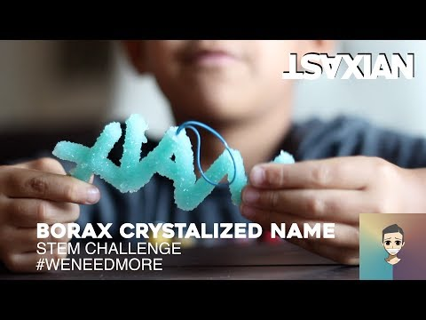 Easily make your name with crystals! STEM