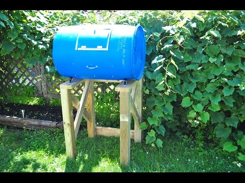 D.I.Y Plastic Barrel Compost Tumbler Tutorial
