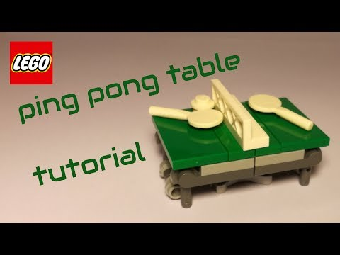 Tutorial - working LEGO ping pong table