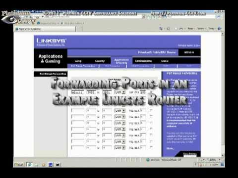 Example Linksys Port Forwarding for Alnet DVR Cards and NVR Software