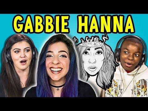 TEENS REACT TO GABBIE HANNA (THE GABBIE SHOW)