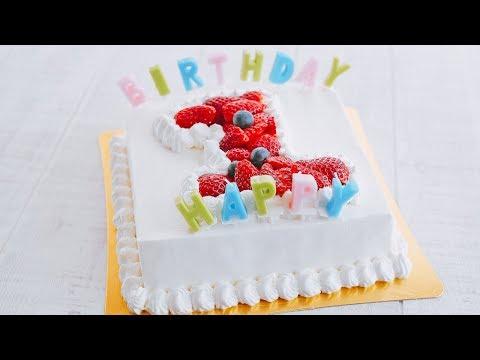 【1周年🎂】BIRTHDAY CAKE ~バースデーケーキ ~ How To Make【料理レシピはParty Kitchen🎉】