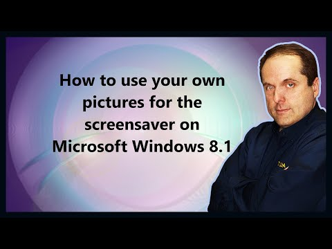 How to use your own pictures for the screensaver on Microsoft Windows 8.1