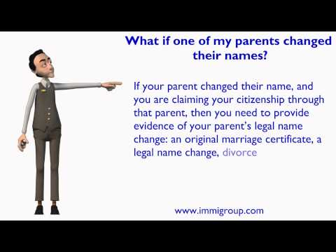 What if one of my parents changed their names?