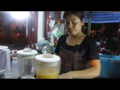 How to Make Thai Mango Smoothie สมูทตี้มะม่วง