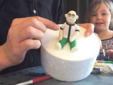 How to make Ben 10 from fondant - part 2