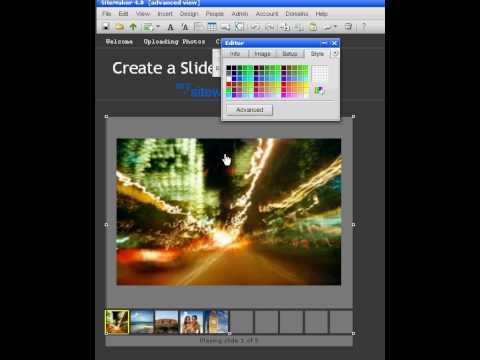 Create a Slideshow-Flash website templates