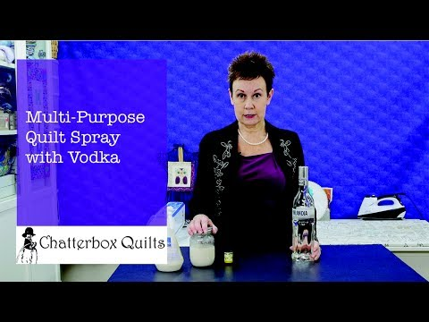 Multi-Purpose Quilt Spray with Vodka