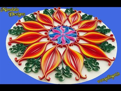 Paper Quilling | How to make beautiful Mandala designs by using Quilling Artwork