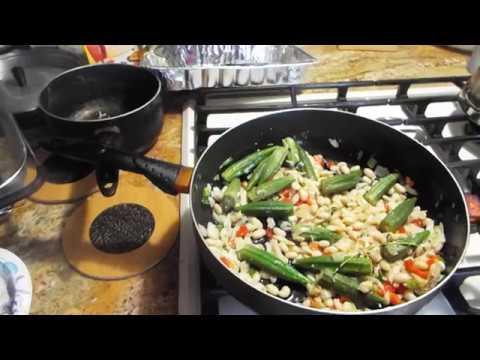 Salfish, Okra, and Northern Beans Carribbean Flavor