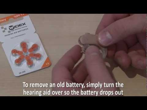 5. Changing a hearing aid battery