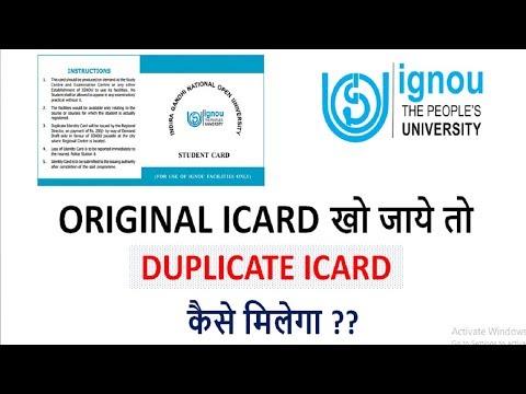 [IGNOU]How to Get Dulpicate icard if original i card is loss || DUPLICATE I CARD KAISE MILEGA?
