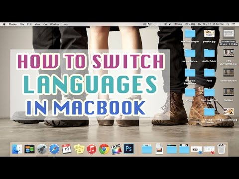 How To Switch Languages In Macbook || Easy Keyboard Shortcut OS X Yosemite