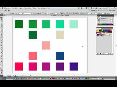 Illustrator CS5: Creating a Color Palette