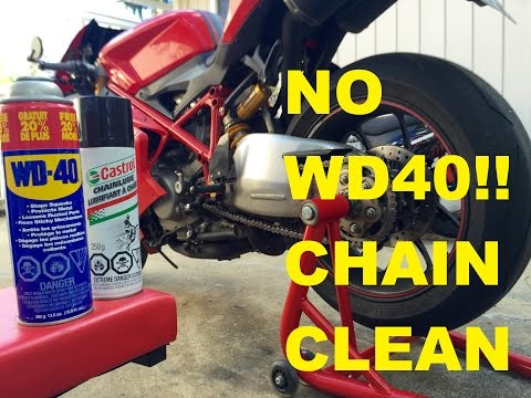 Clean & Lube your Motorcycle Chain. (WHY NOT TO USE WD40)