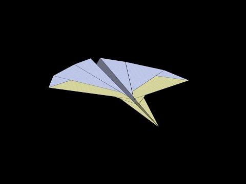 Leopard Paper Airplane: 3D Folding