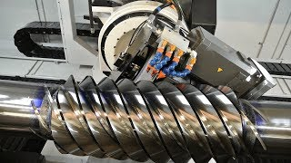 Fast Extreme High Precision Automatic Thread Rolling Cutting Machine, Metal Milling Machine At Work