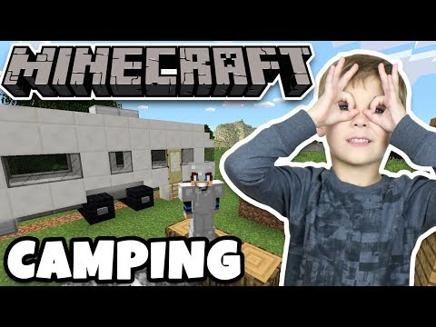 CAMPING WITH A TRAILER in MINECRAFT SURVIVAL MODE