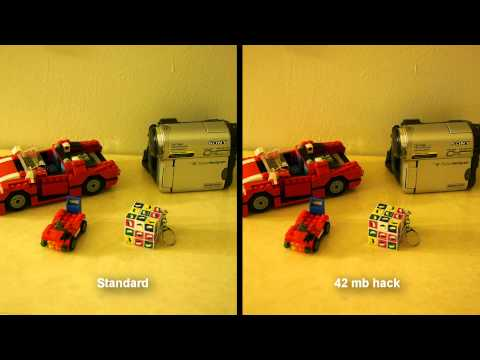 GH2 standard vs 42 mb hack