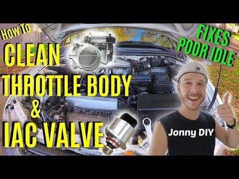 How To Clean Throttle Body & Idle Air Control Valve -Jonny DIY