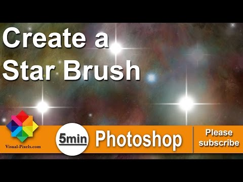 Photoshop Tutorial: How to create Create a Star Brush Set