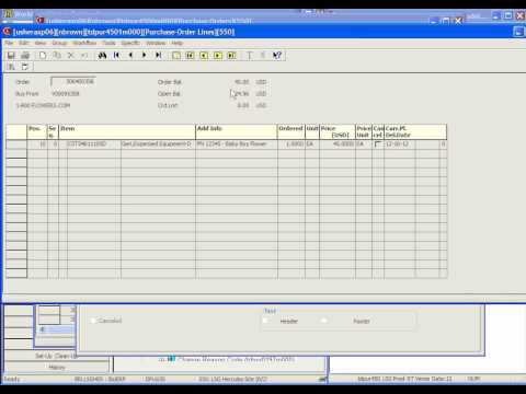 How to Print a Purchase Order