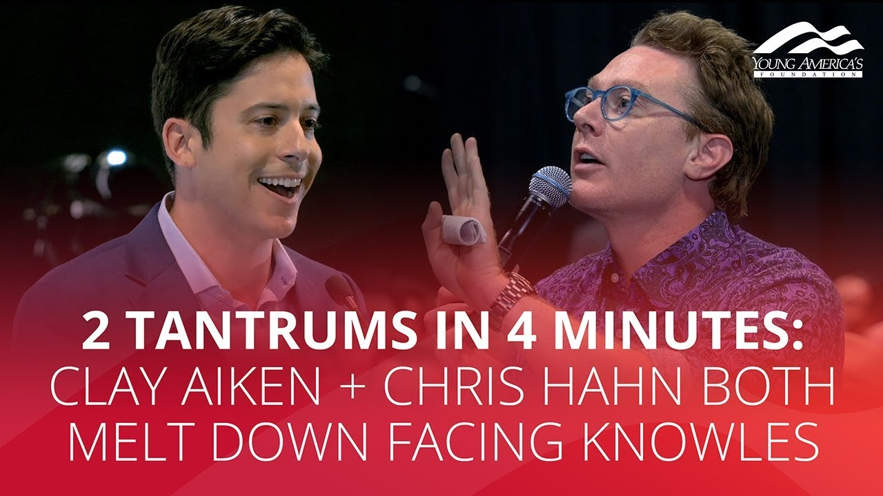 2 TANTRUMS IN 4 MINUTES: Clay Aiken + Chris Hahn both melt down facing Knowles