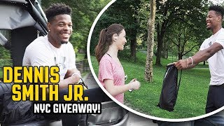 DENNIS SMITH JR. SURPRISES STRANGERS IN NYC WITH FREE GEAR!