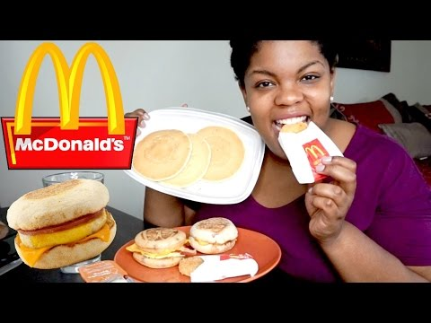 McDonald's Breakfast MUKBANG (Pancakes, Egg McMuffin, McGriddle) + New Year's Resolution Talk
