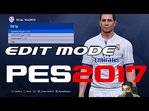 PES 2017 PC - EDIT MODE PREVIEW
