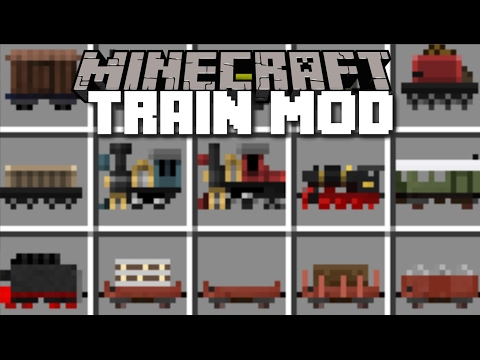 Minecraft TRAIN MOD / BUILD YOUR OWN TRAINCRAFT AND RIDE THEM!! Minecraft