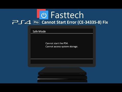 PS4 Pro Cannot Start (CE-34335-8) Cannot access system storage fix