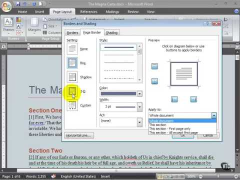 Microsoft Word 2007 ENG TB 05 09 Add a Page Border