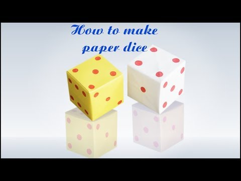 How to make a Paper Dice...(Tutorial / Step by Step Instructions)  by Check It Dude