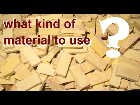 DIY What Kind of Material To Use To Make Miniature Bricks And Tiles