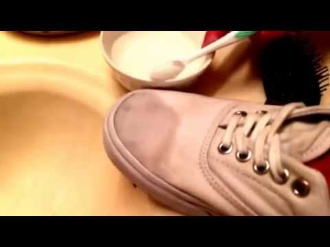 How to clean any white vans or any white mesh shoes