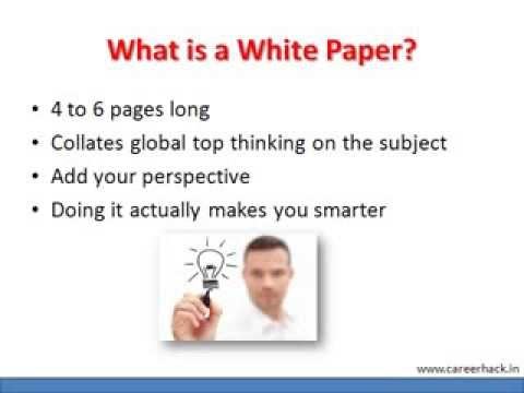 Writing your White Paper