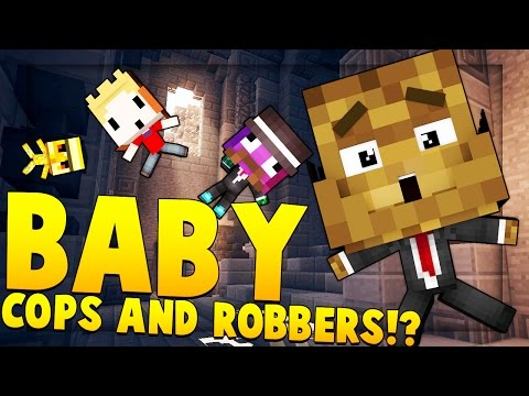 Minecraft BABY MODDED - Cops And Robbers Mod