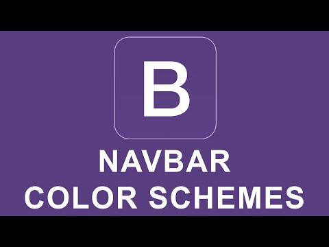 Bootstrap 4 Tutorial 37 - Navbar Color Schemes