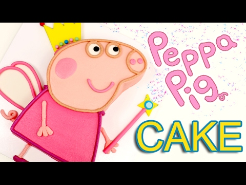 Easy PEPPA PIG Birthday CAKE!